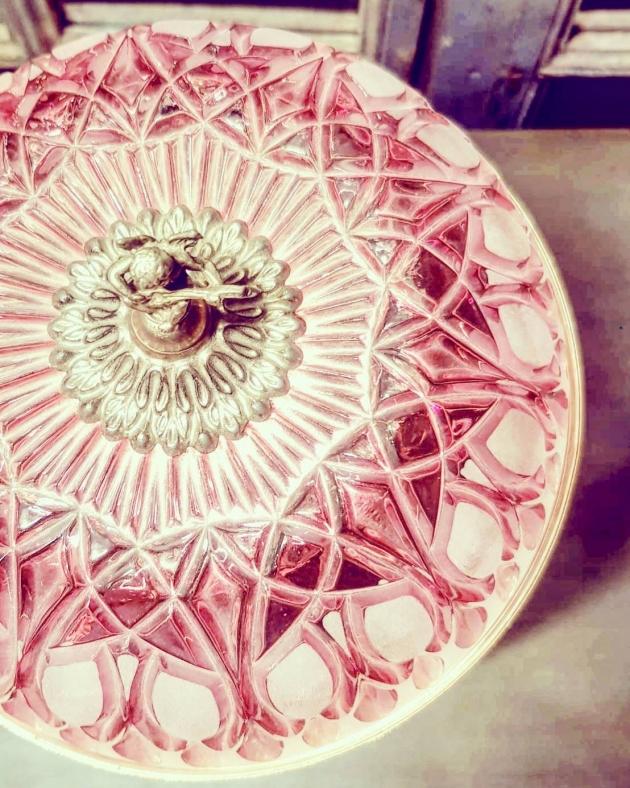 1950年代<br>法國粉色水晶桌燈 4