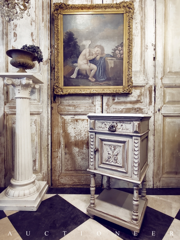 1900年代<br>法國文藝復興大理石邊櫃 1