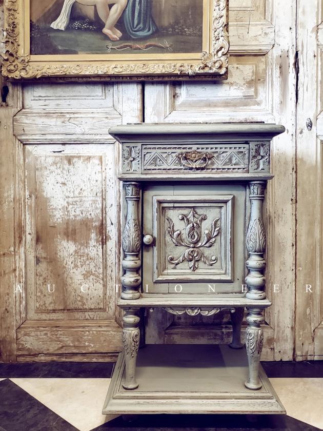 1900年代<br>法國文藝復興大理石邊櫃 2