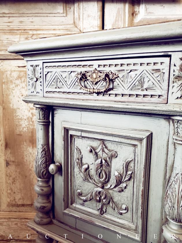 1900年代<br>法國文藝復興大理石邊櫃 4