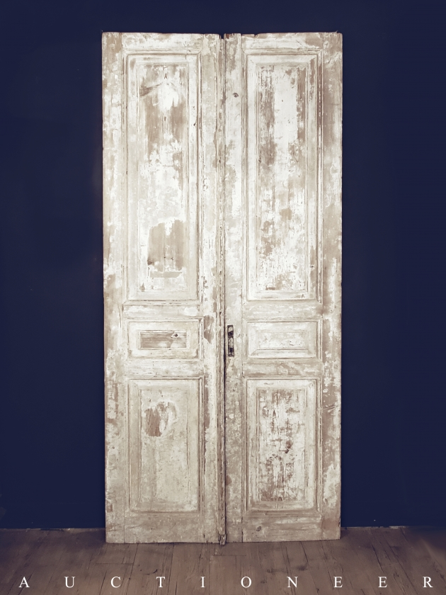 1900年代<br>法國古董門片(一對) 3