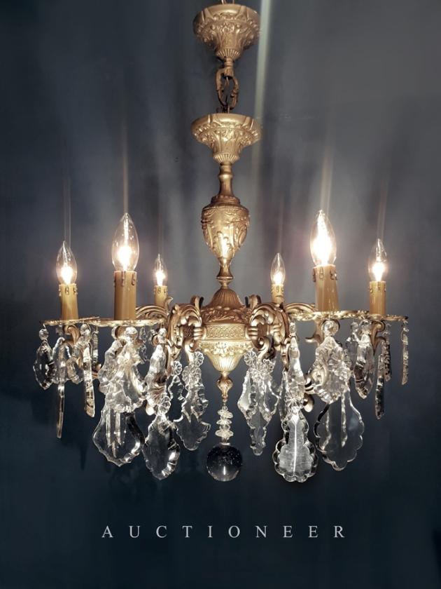 1900年代<br>法國水晶吊燈 1