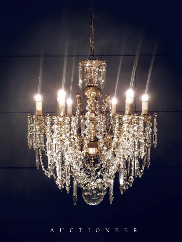 1930年代<br>法國巴卡拉水晶吊燈 1