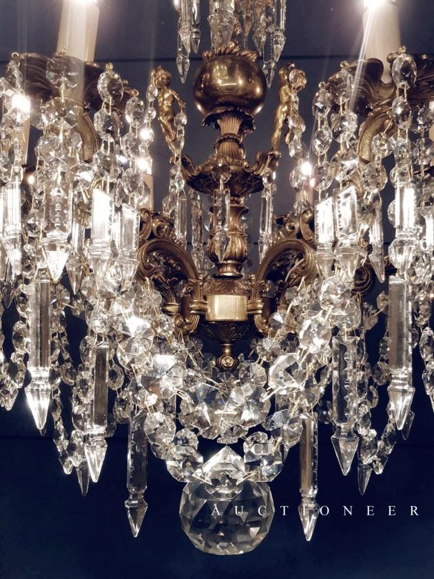 1930年代<br>法國巴卡拉水晶吊燈 3