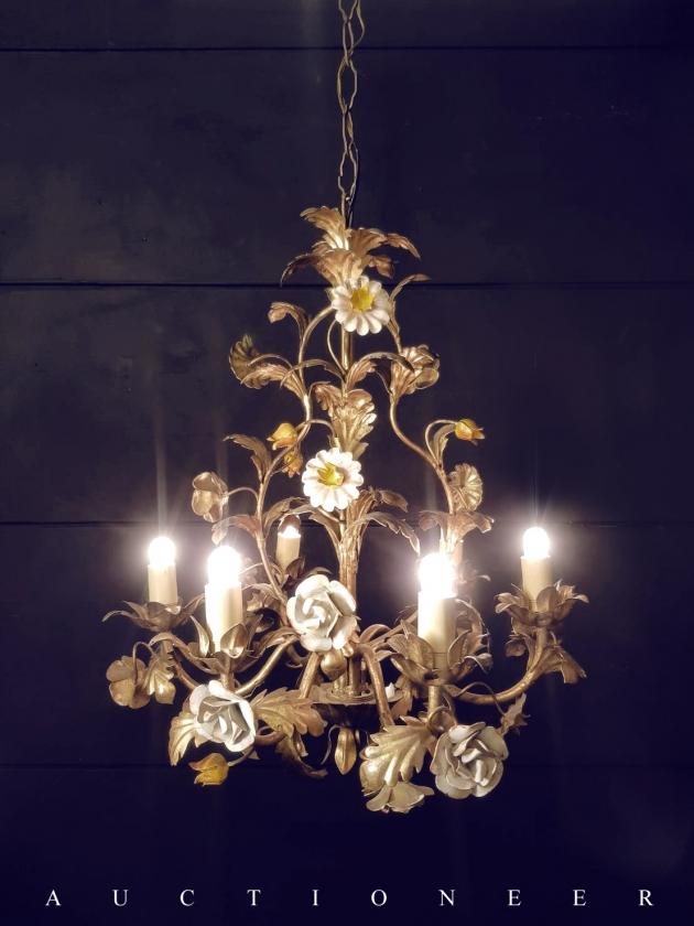 1950年代<br>義大利金屬彩繪吊燈 1