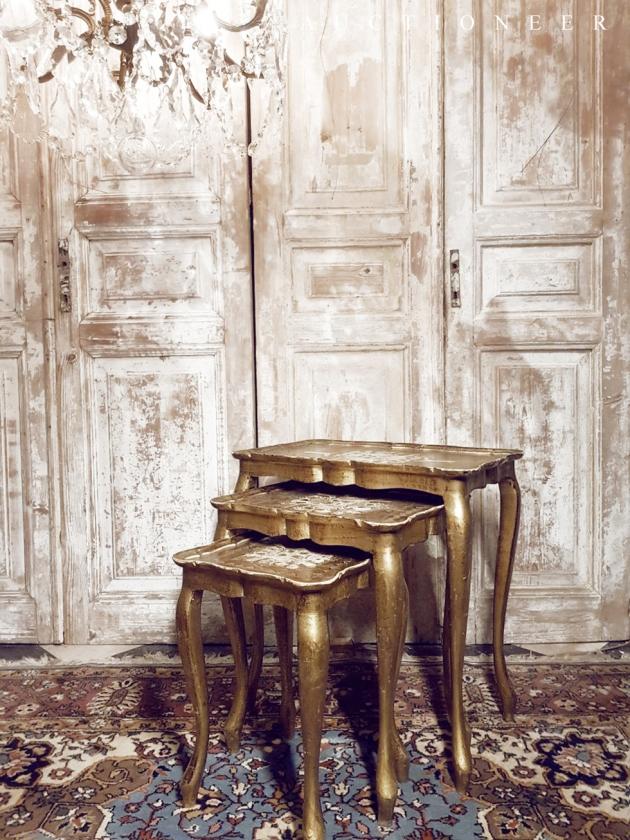 1950年代<br>義大利實木邊桌 1