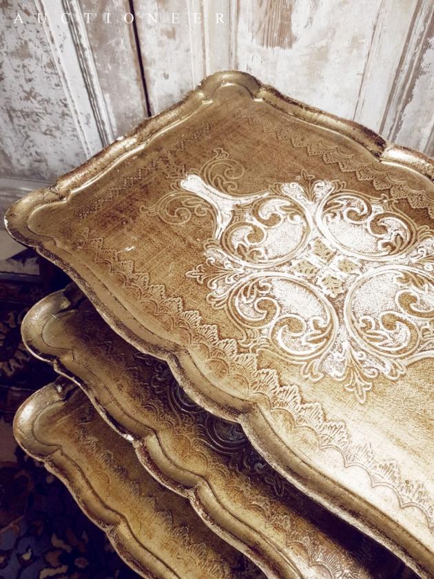 1950年代<br>義大利實木邊桌 3