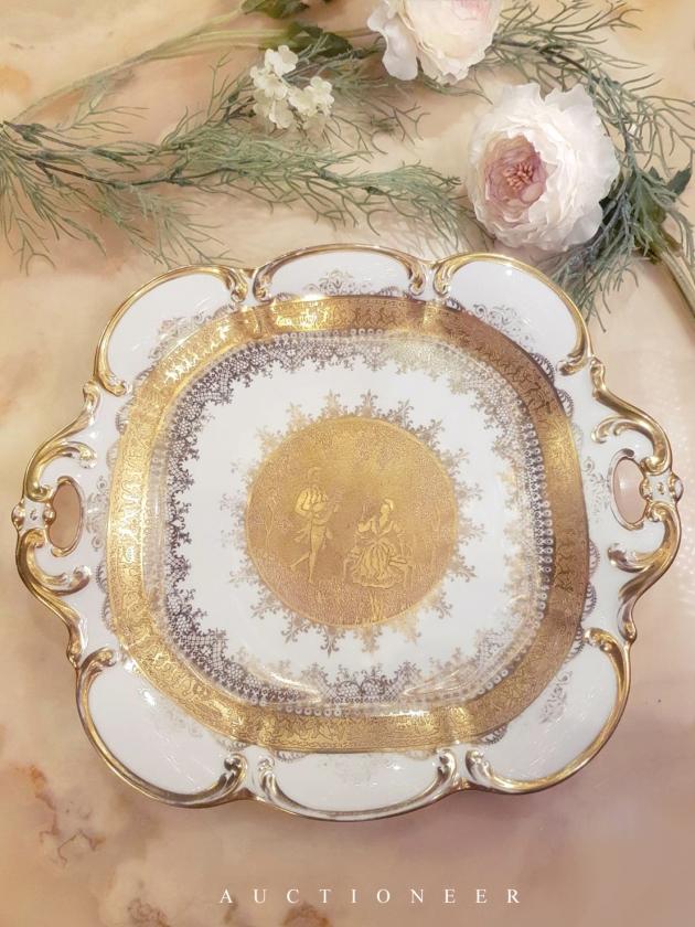 1921年代<br>德國DW黃金瓷盤 1