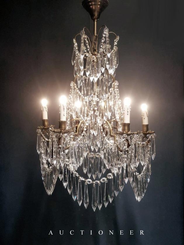 1950年代<br>法國流蘇水晶燈 1