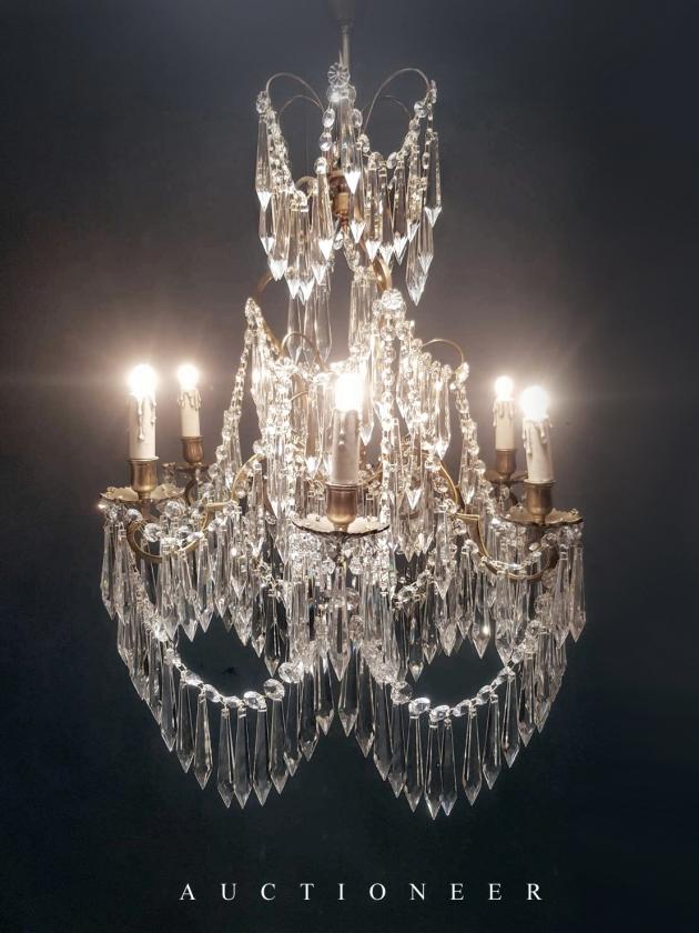 1950年代<br>法國流蘇水晶燈 3